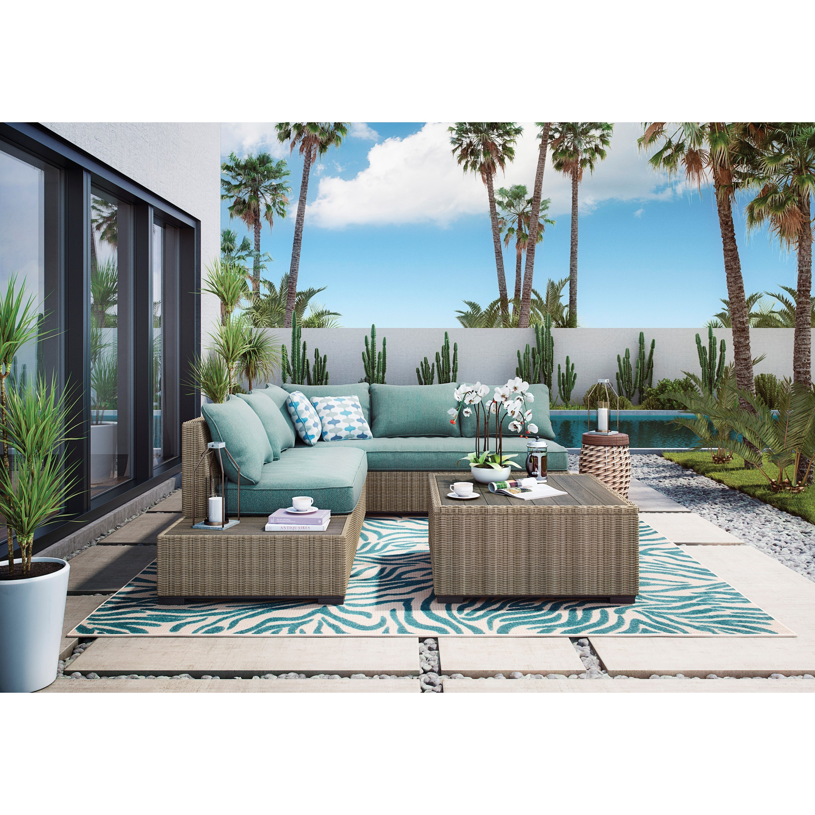 Signature Design By Ashley Silent BrookOutdoor Sectional Group ...