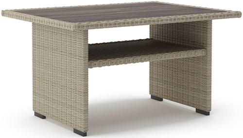 Signature Design by Ashley Silent Brook Rectangular Multi-Use Resin Wicker Table