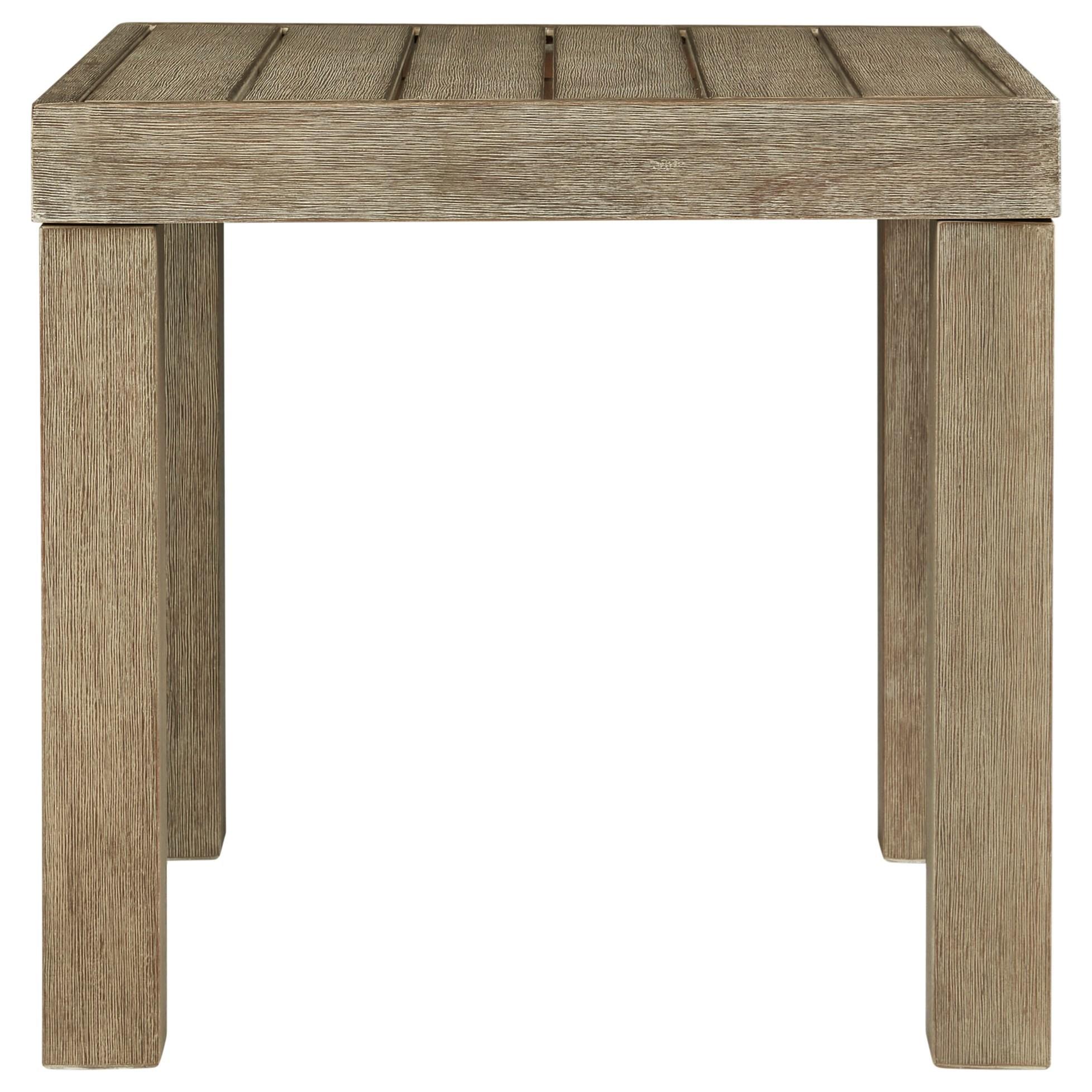 Eucalyptus Wood Square End Table