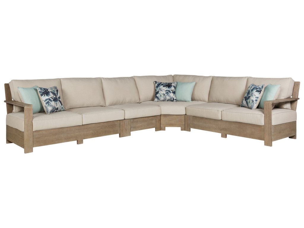Signature Design by Ashley Silo Point4-Piece Outdoor Sectional