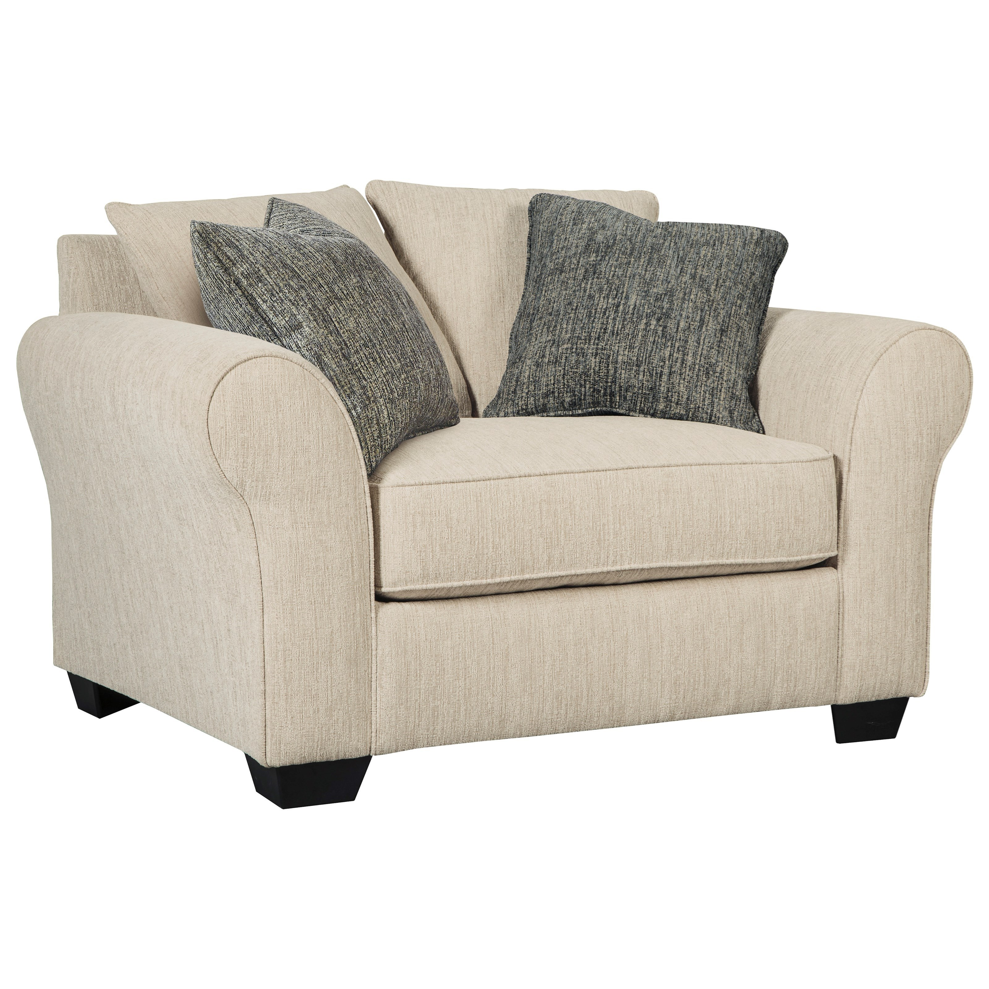 Beautiful Chair And A Half Silsbee W Large Rolled Arms Reversible Ultraplush Seat Cushion Throughout Inspiration