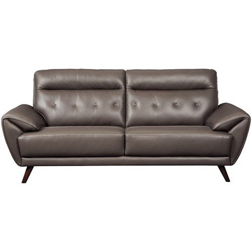 Signature Design by Ashley Sissoko Contemporary Leather Match Sofa with Tufted Back