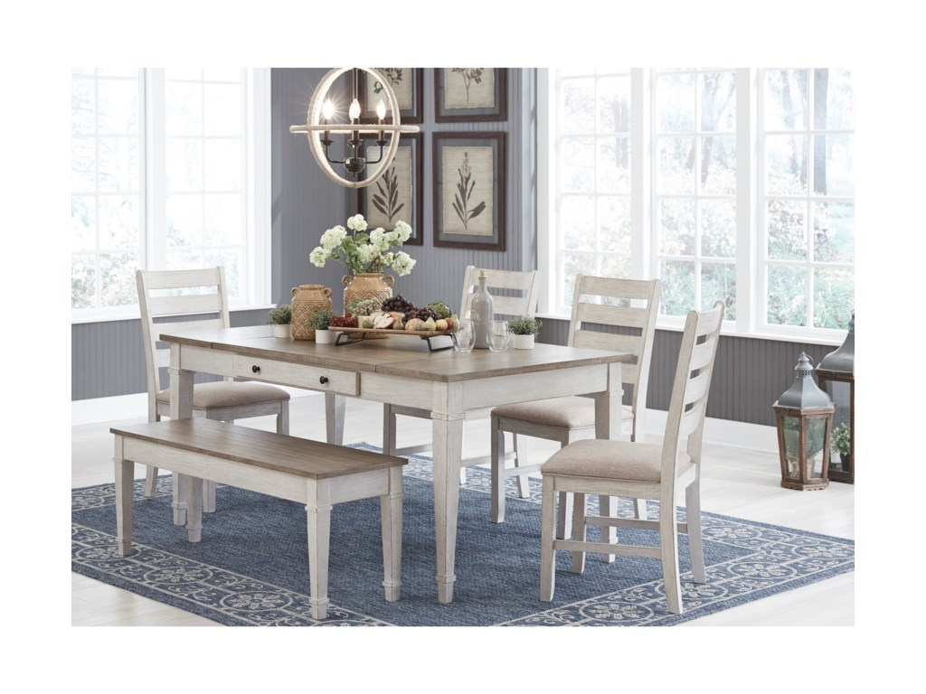 Signature Design by Ashley SkemptonRect. Dining Table Set w/ Storage & Bench