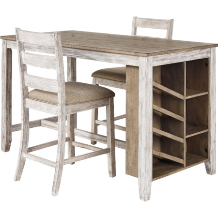 3-Piece Rectangular Counter Table Set