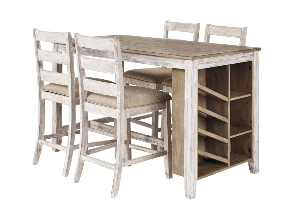 Signature Design by Ashley Skempton5-Piece Rectangular Counter Table Set