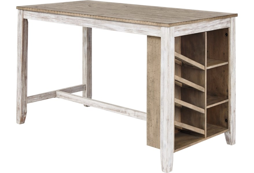 Skempton Rectangular Counter Table w/ Storage by Ashley Signature Design at  Dunk & Bright Furniture
