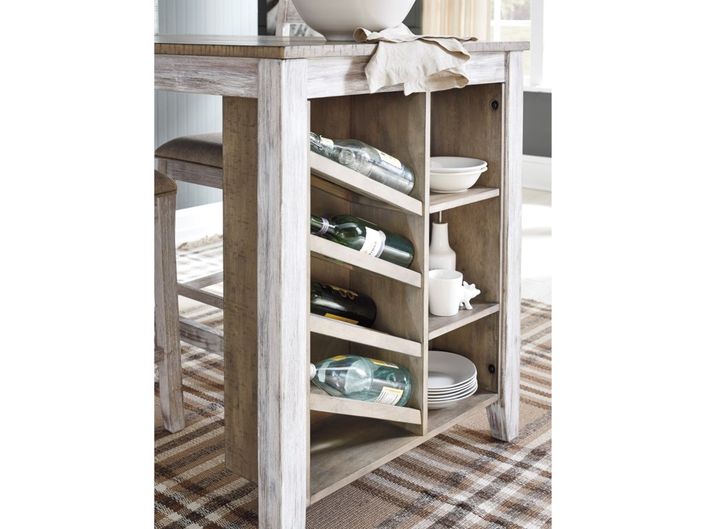 Ashley (Signature Design) SkemptonRectangular Counter Table w/ Storage