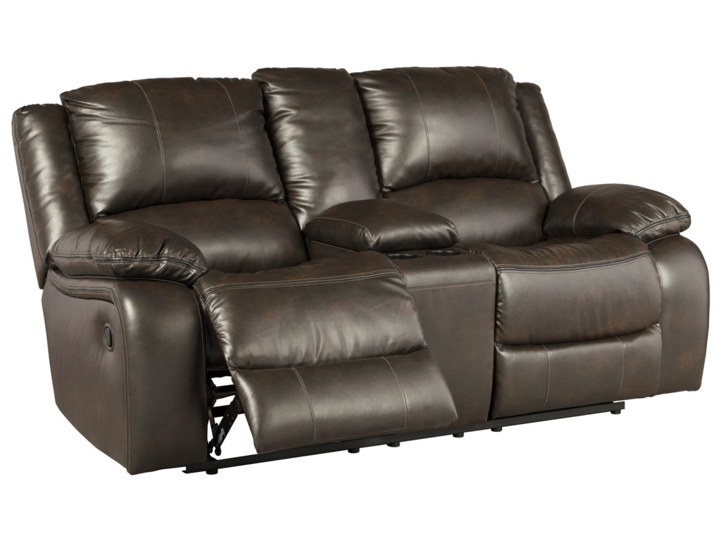 Ashley (Signature Design) SlaytonDouble Reclining Loveseat w/ Console