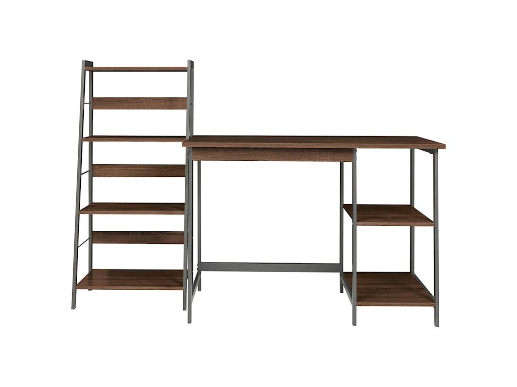 Signature Design by Ashley Soho2-Piece Home Office Desk and Shelf Set