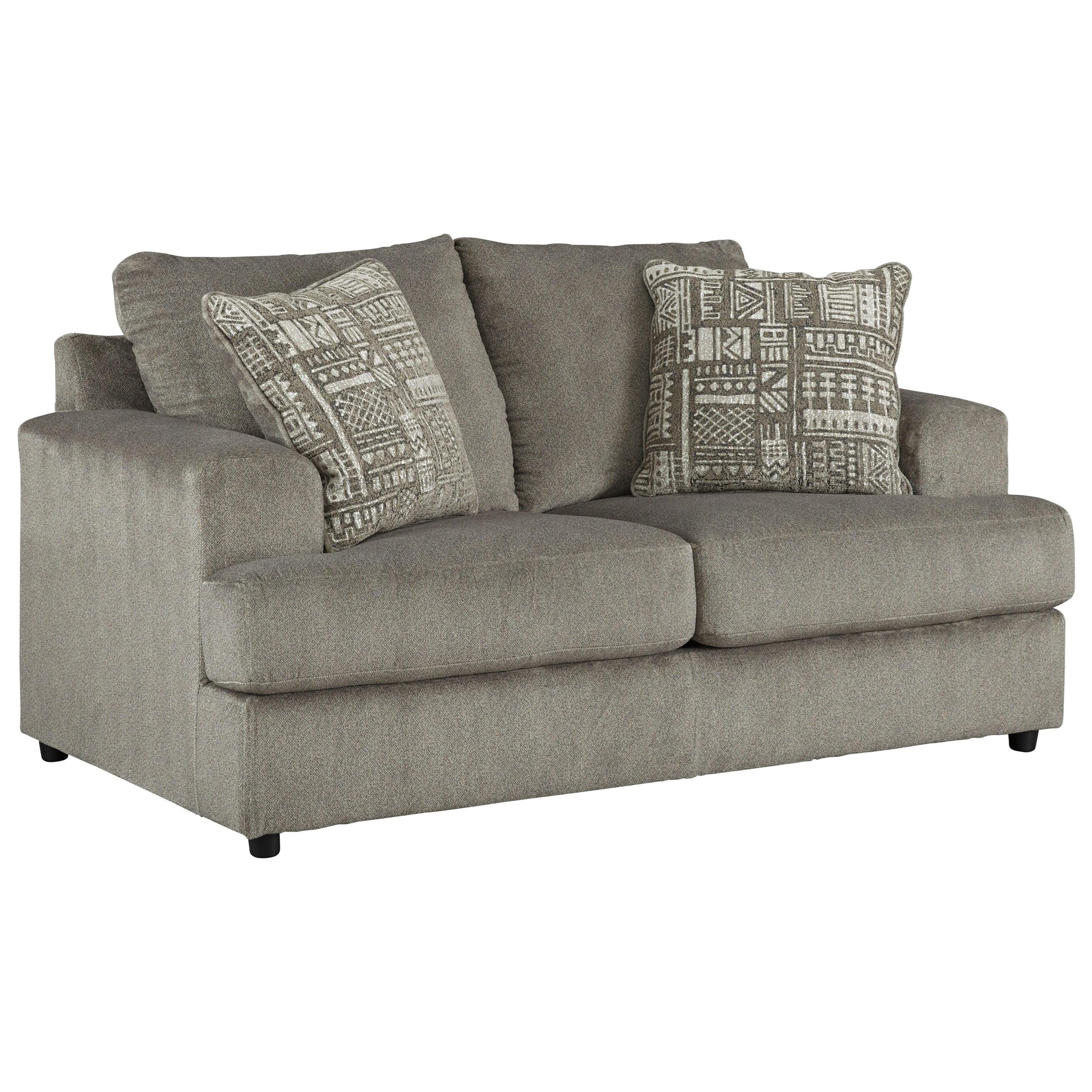 Signature Design By Ashley Soletren Contemporary Loveseat Royal Furniture Loveseats
