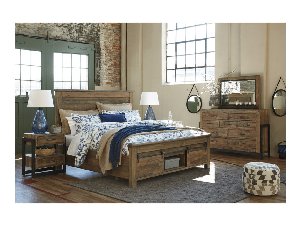 Signature Design by Ashley SommerfordCalifornia King Panel Storage Bed