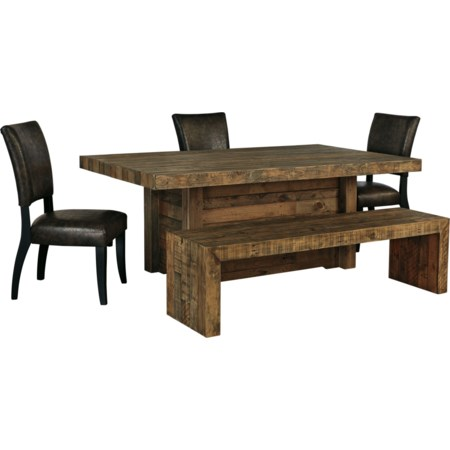 5-Piece Table Set with Bench
