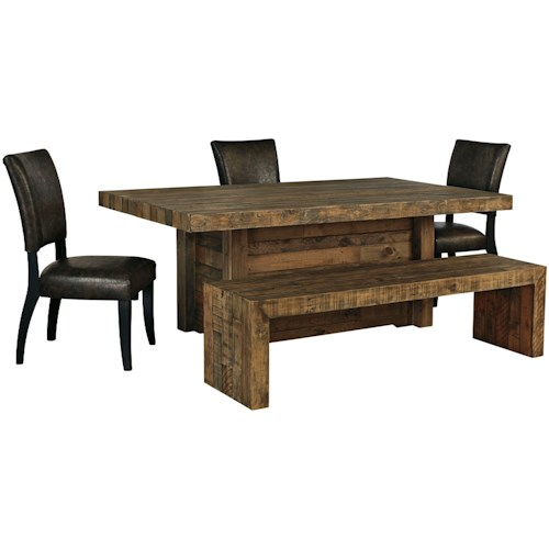 Signature Design by Ashley Sommerford 5-Piece Table Set with Bench