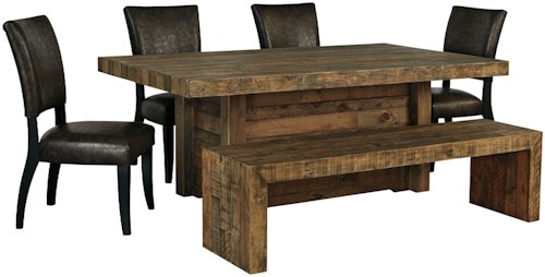 Signature Design by Ashley Sommerford 6-Piece Table Set with Bench