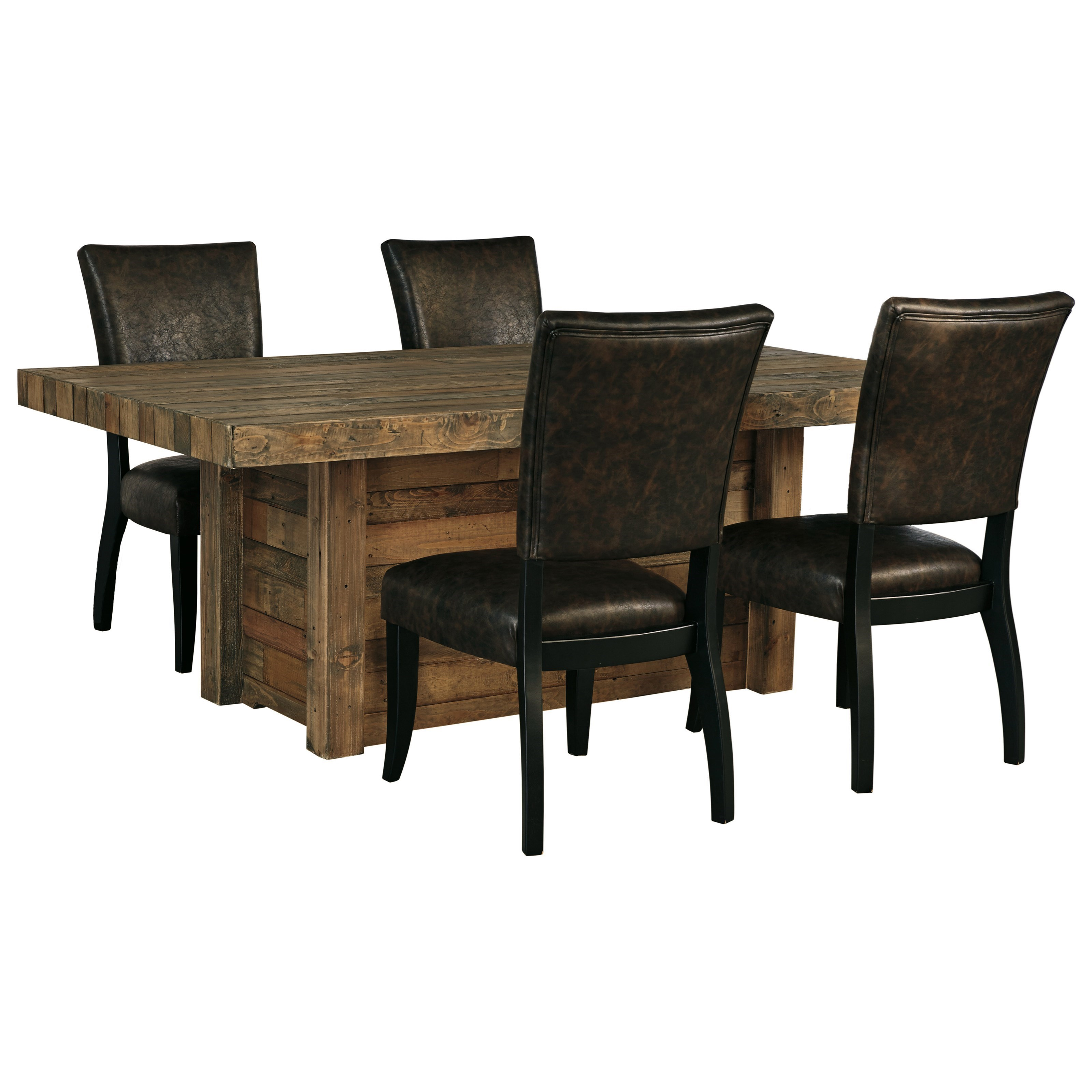 Signature Design by Ashley Sommerford 5-Piece Rectangular Dining Room Table Set - Godby Home ...