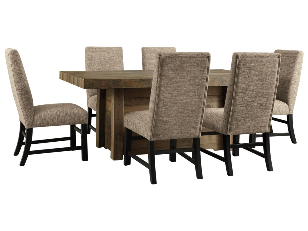Signature Design by Ashley Sommerford7-Piece Rectangular Dining Room Table Set