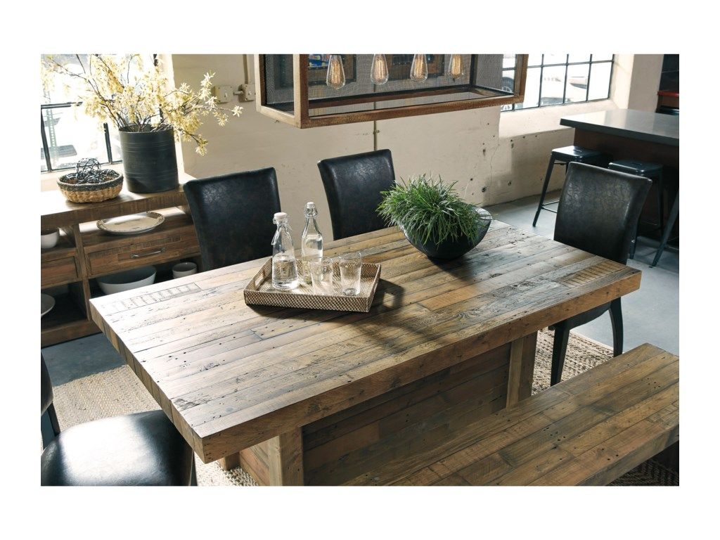 Signature Design by Ashley Sommerford Solid Wood Reclaimed Pine ...