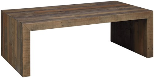 Signature Design by Ashley Sommerford Reclaimed Pine Rectangular Cocktail Table
