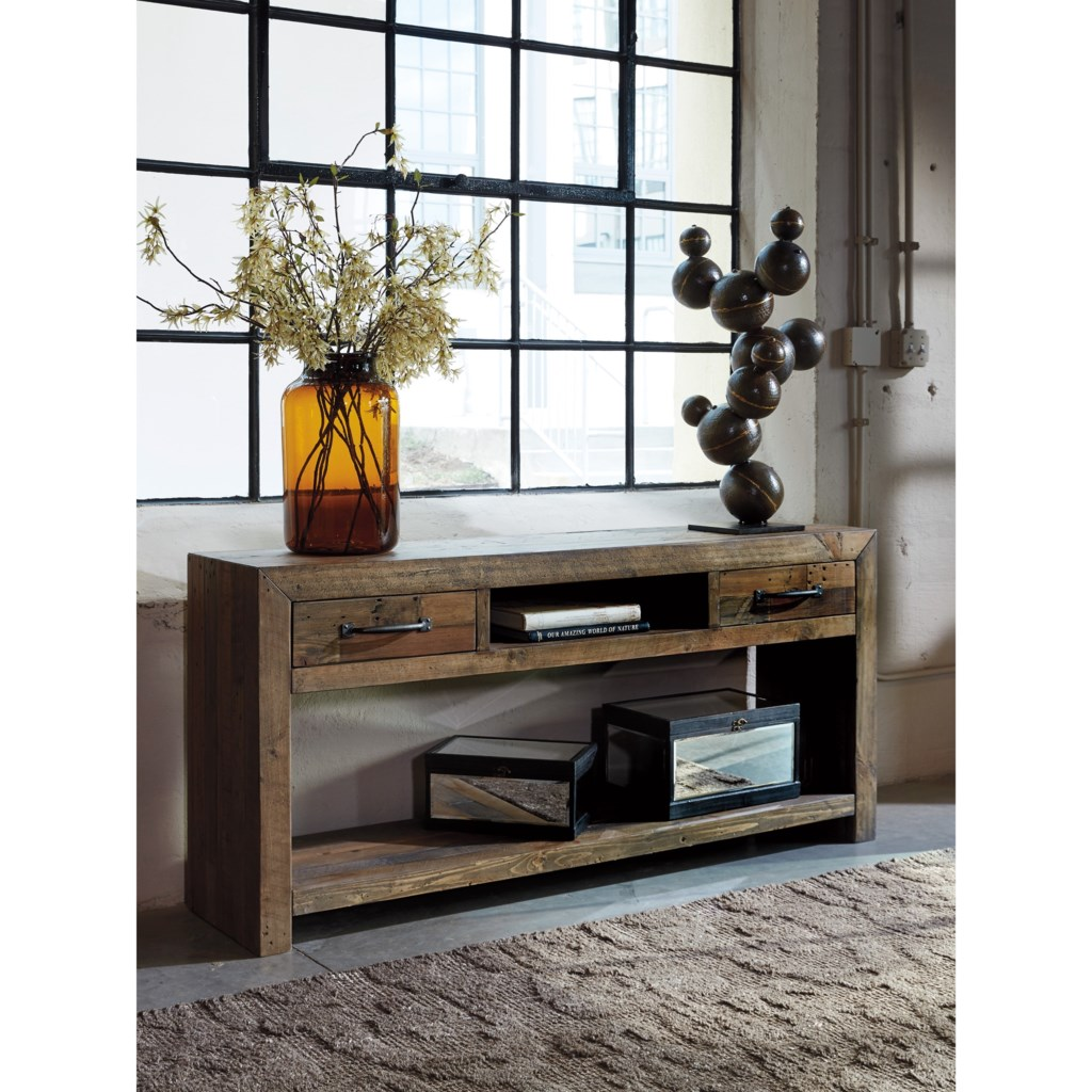 Sommerford T975-4 Reclaimed Pine Sofa Table By Signature Design By Ashley