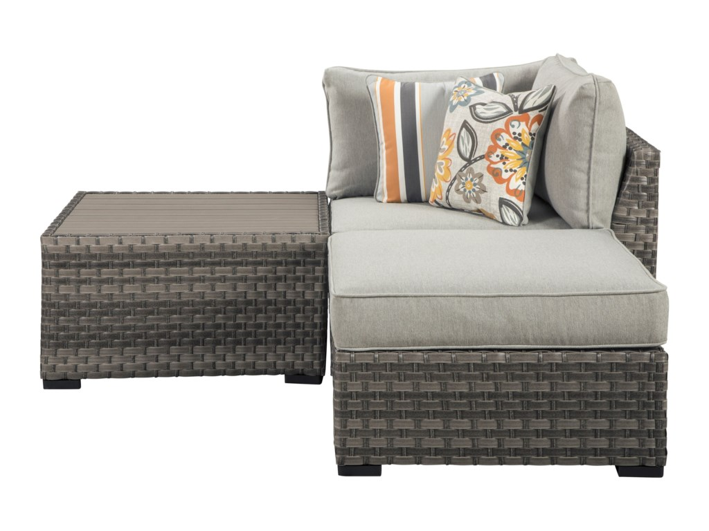 Signature Design by Ashley Spring DewTable/Corner/Ottoman with Cushion