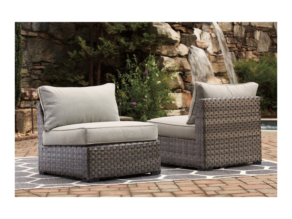 StyleLine TucoSet of 2 Armless Chairs with Cushions