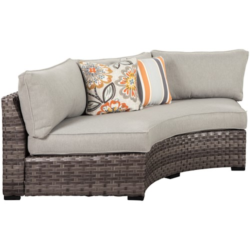 Signature Design by Ashley Spring Dew Loveseat/Curved Corner Chair with Cushion