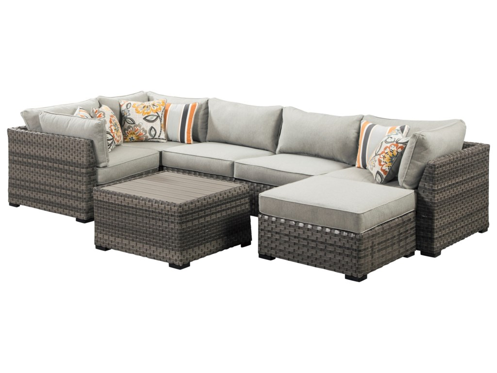 Signature Design by Ashley Spring DewOutdoor Conversation Set