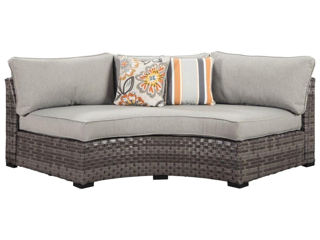 Signature Design by Ashley Spring DewCurved Corner Sectional with Cushions