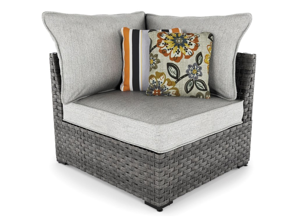 Signature Design by Ashley Spring DewSet of 2 Corner Chairs with Cushion