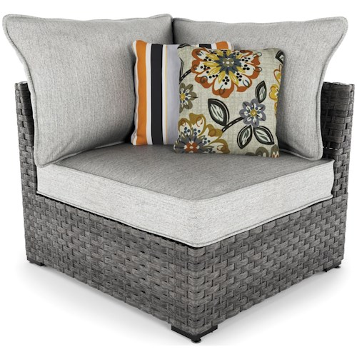Signature Design by Ashley Spring Dew Set of 2 Corner Chairs with Cushions