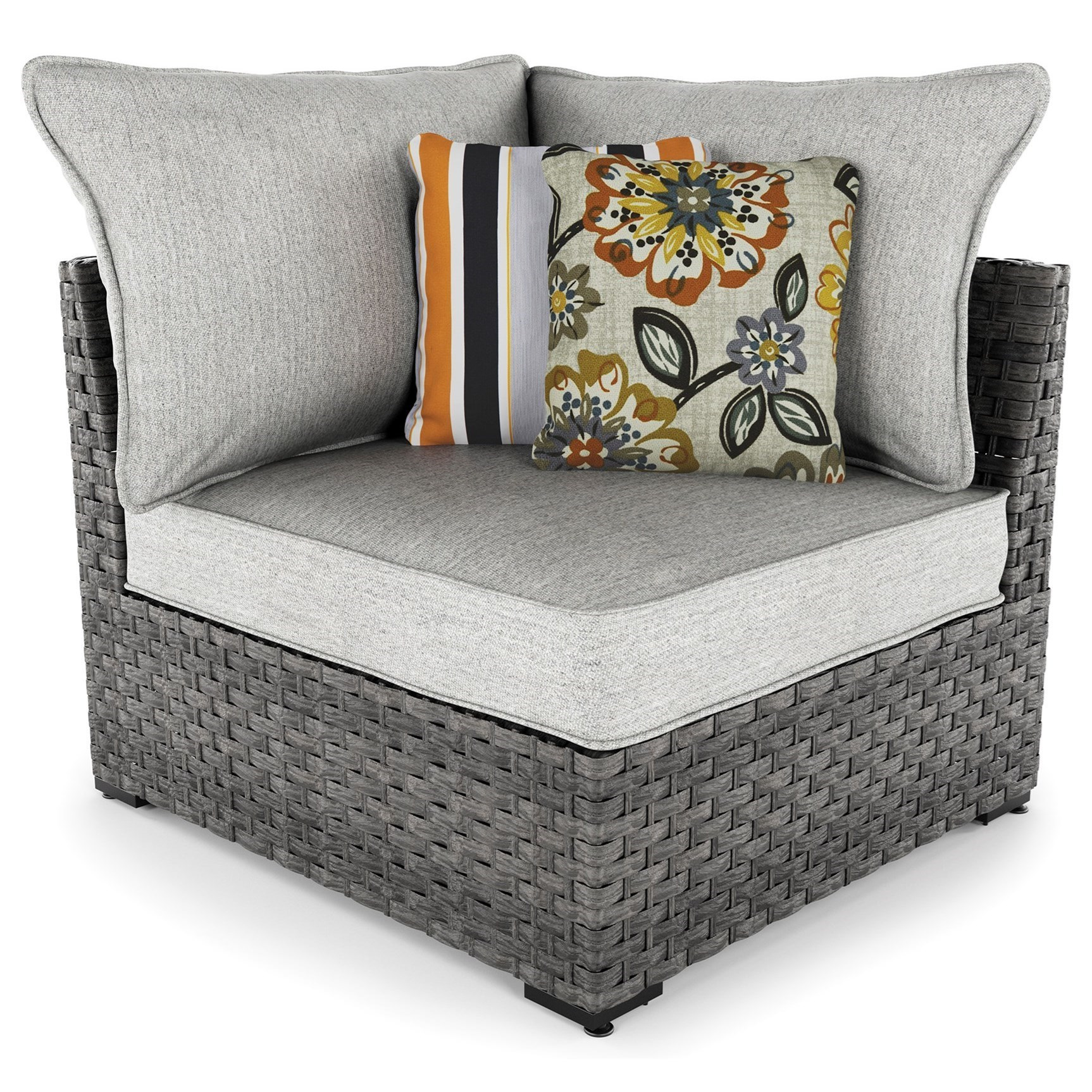 Signature Design By Ashley Spring DewSet Of 2 Corner Chairs With Cushion ...