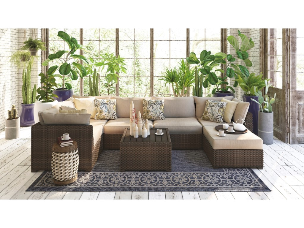 Signature Design by Ashley Spring Ridge7 Piece Outdoor Set