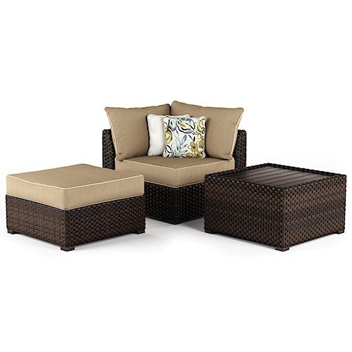 Signature Design by Ashley Spring Ridge Cocktail Table & Ottoman & Corner Chair Set