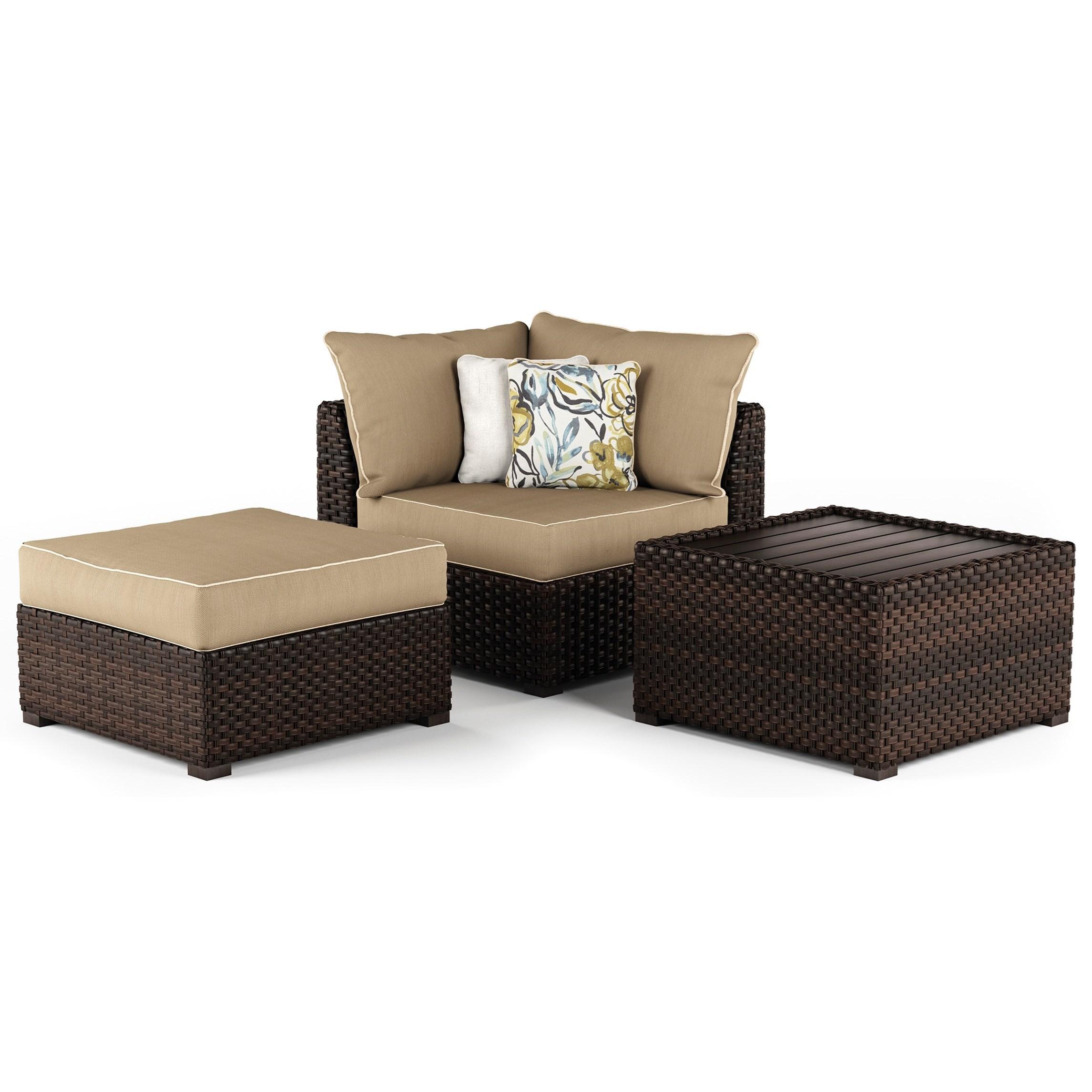 Spring Ridge Cocktail Table U0026 Ottoman U0026 Corner Chair Set By Ashley  Signature Design