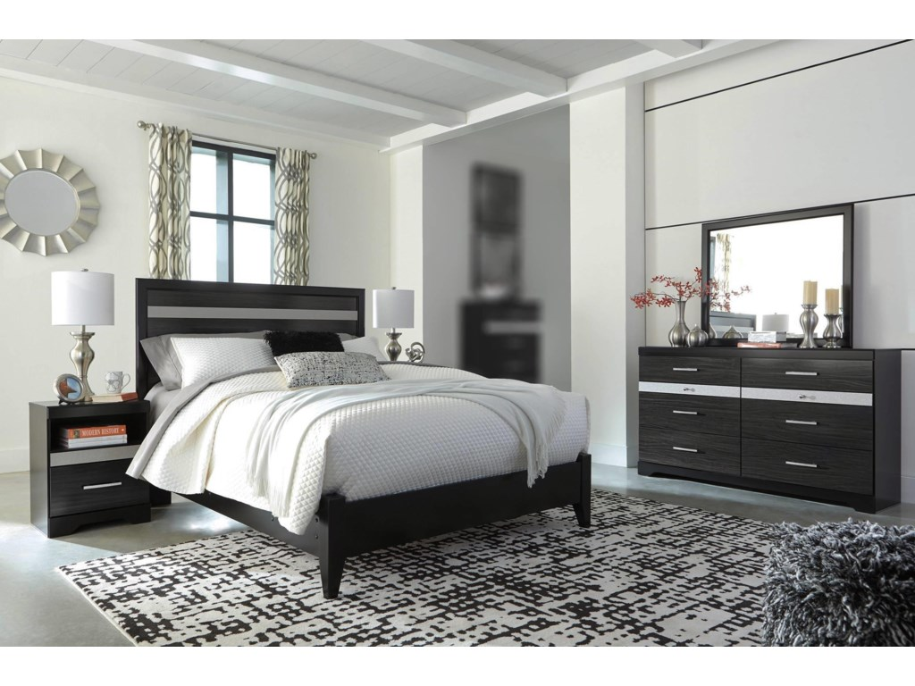 Signature Design by Ashley Electra4PC Queen Bedroom Set