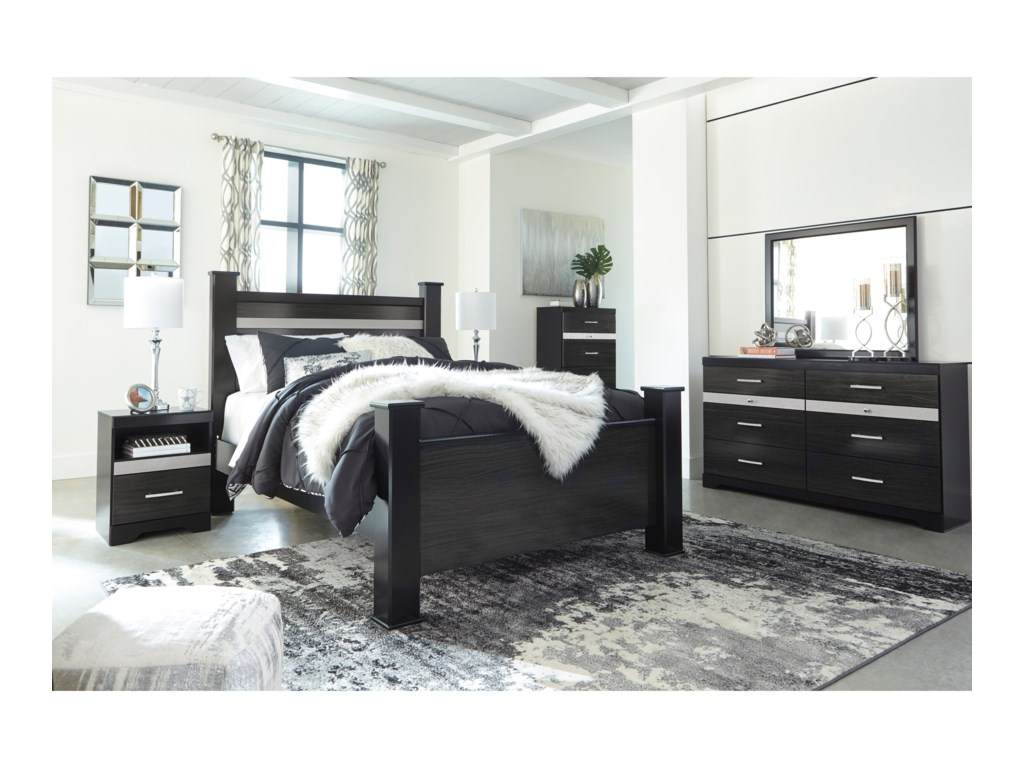 Signature Design by Ashley StarberryQueen Poster Bed