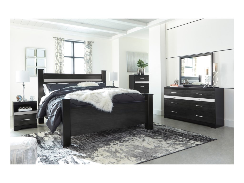 Signature Design by Ashley StarberryKing Poster Bed