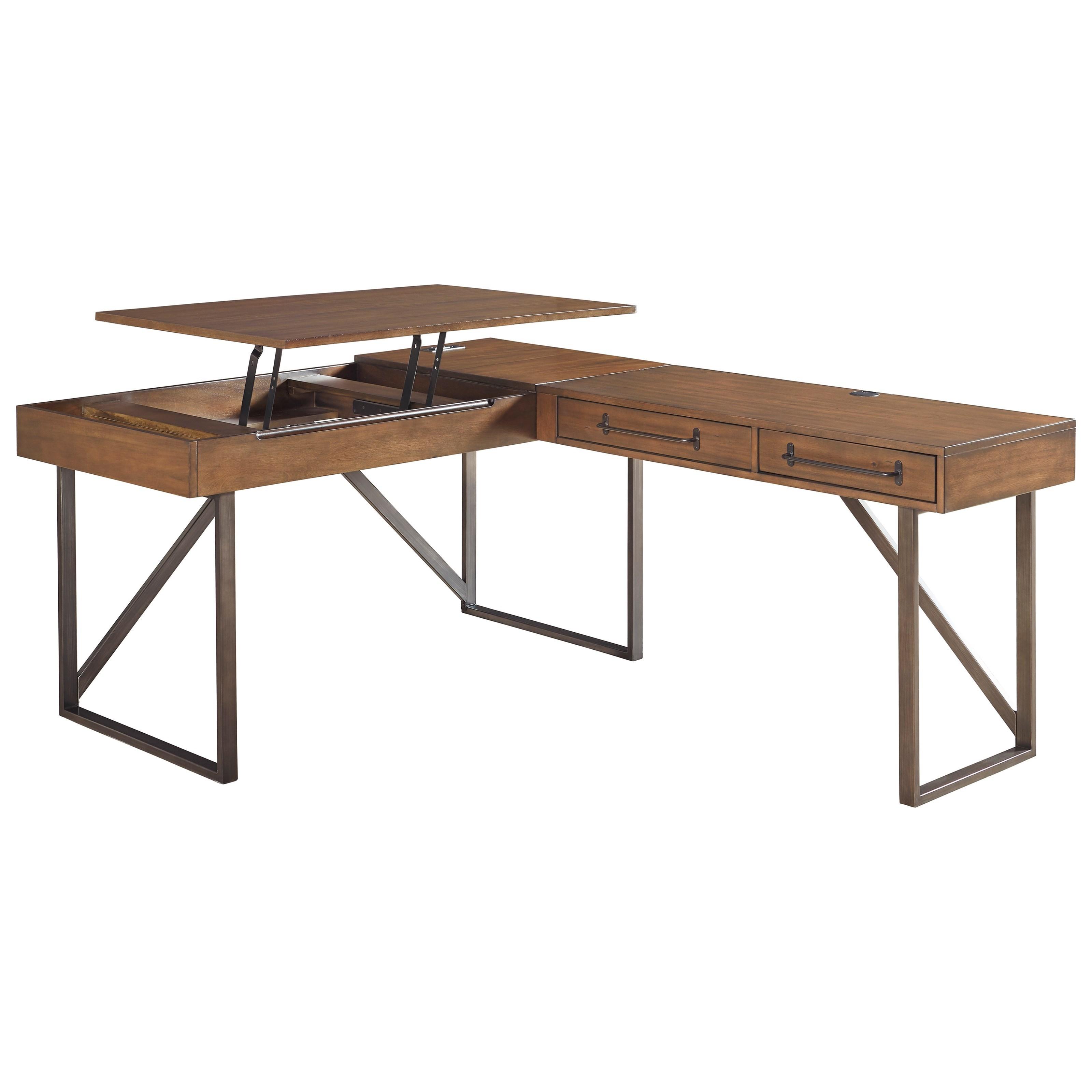 ashley signature design starmore l shaped home office desk with lift rh dunkandbright com