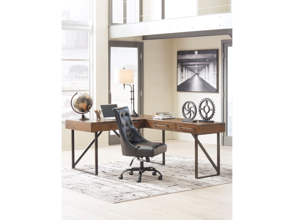 Ashley (Signature Design) StarmoreL-Shaped Home Office Desk