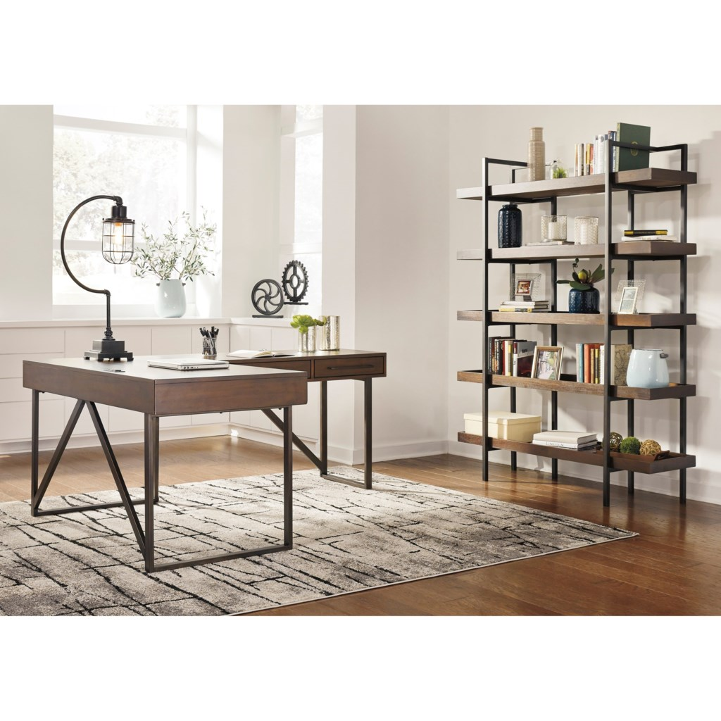 Ashley Signature Design Starmore L Shaped Home Office Desk With