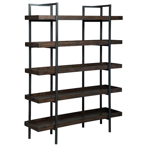 Signature Design by Ashley Starmore Modern Rustic/Industrial Bookcase with 5 Shelves