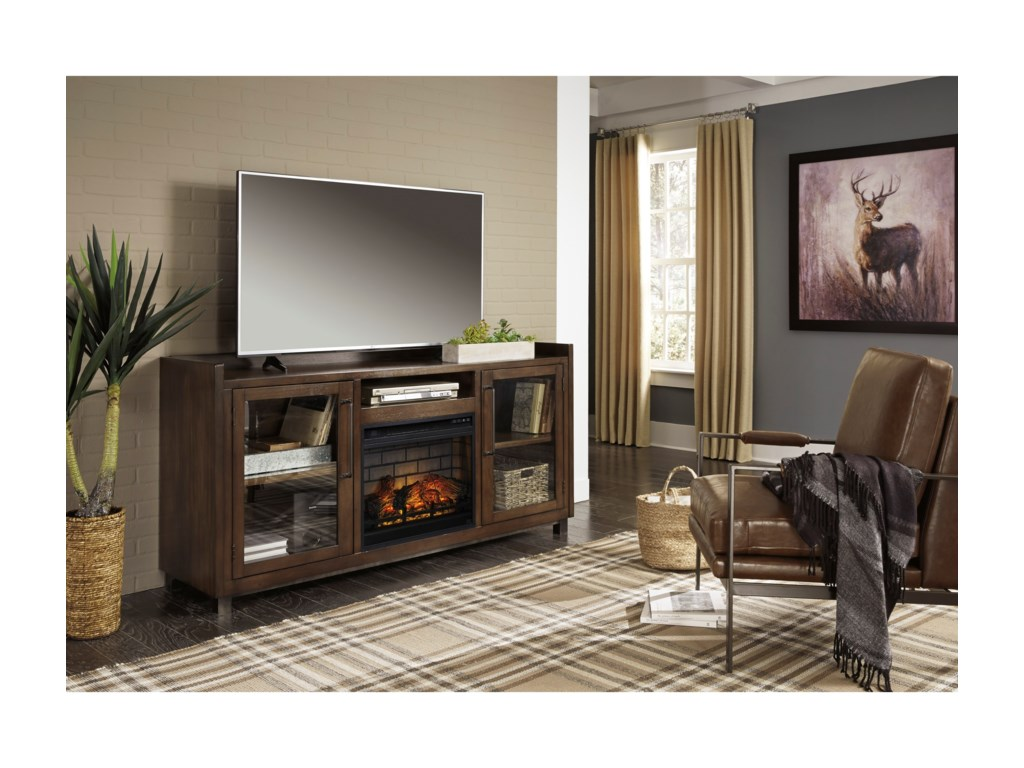 Signature Design by Ashley StarmoreXL TV Stand w/ Fireplace