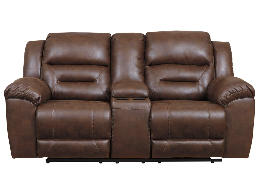 Signature Design by Ashley StonelandDouble Reclining Loveseat w/ Console