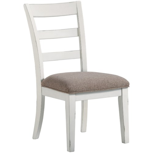 Signature Design by Ashley Stownbranner Dining Upholstered Ladderback Side Chair