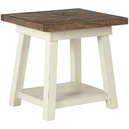 Signature Design by Ashley Stownbranner Two-Tone Rectangular End Table