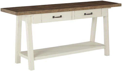 Signature Design by Ashley Stownbranner Two-Tone Rectangular Sofa Table