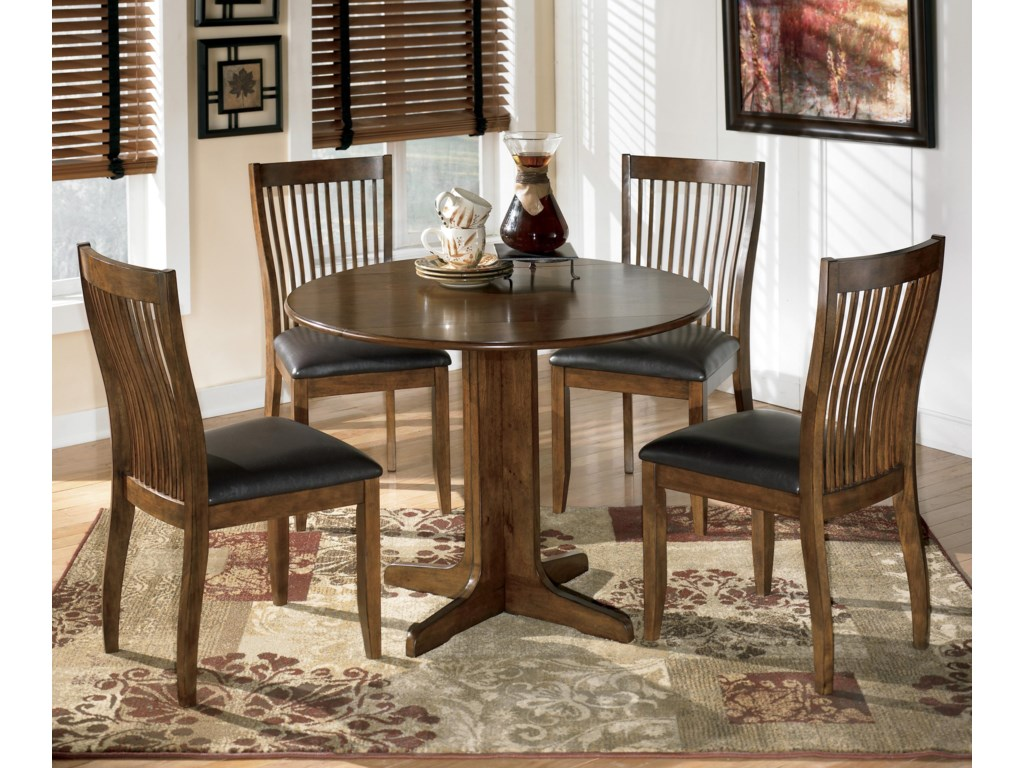 Signature Design by Ashley Stuman5-Piece Round Drop Leaf Table Set
