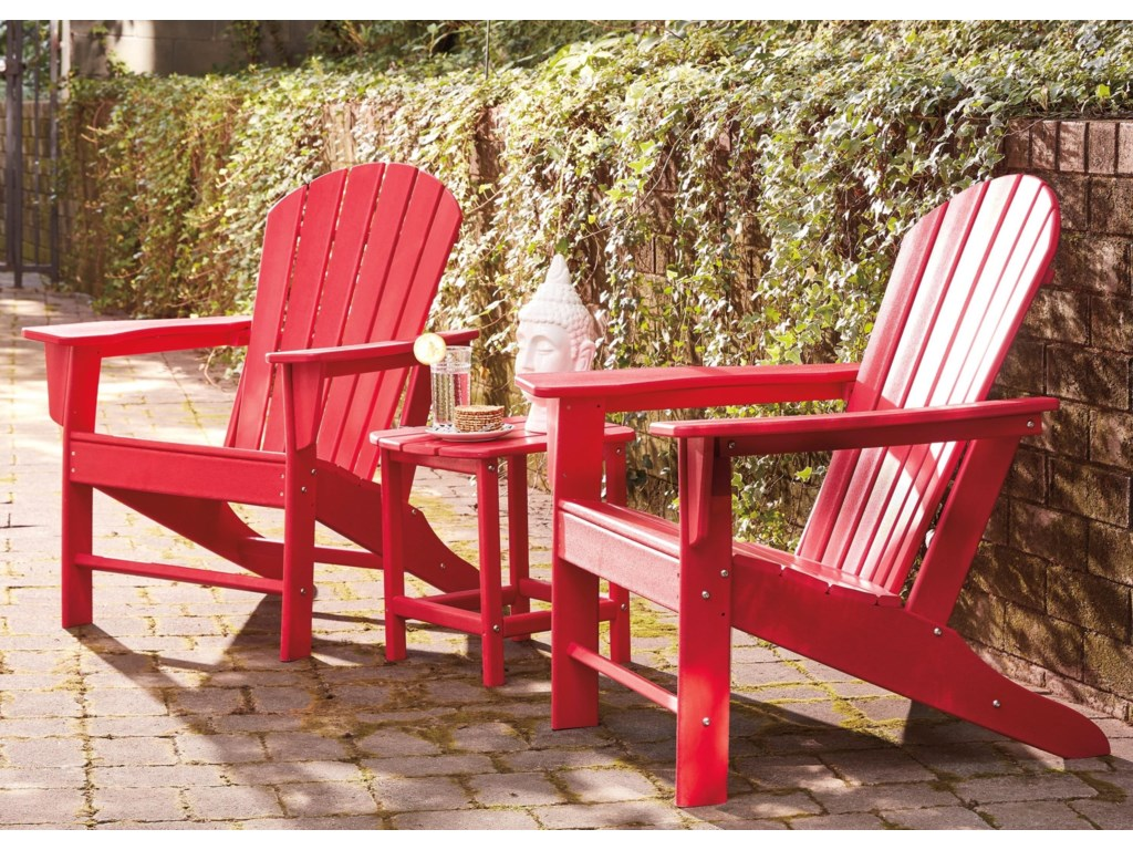Signature Design by Ashley Sundown Treasure2 Adirondack Chairs and End Table Set