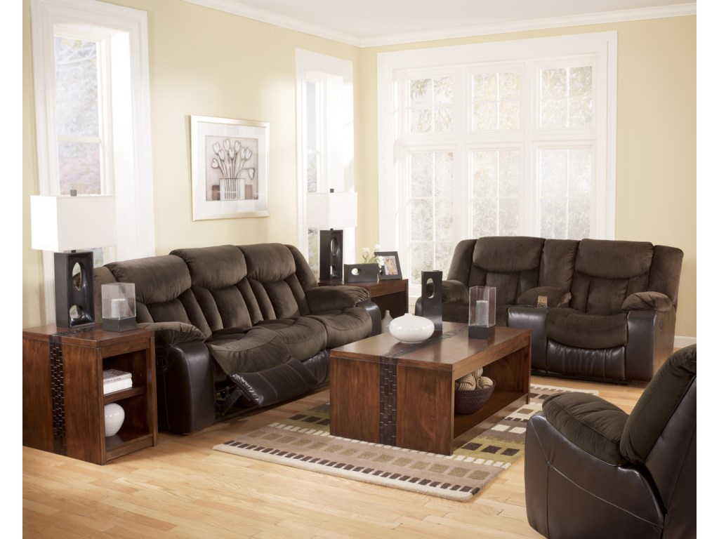 Shown with Reclining Sofa and Double Reclining Loveseat with Console
