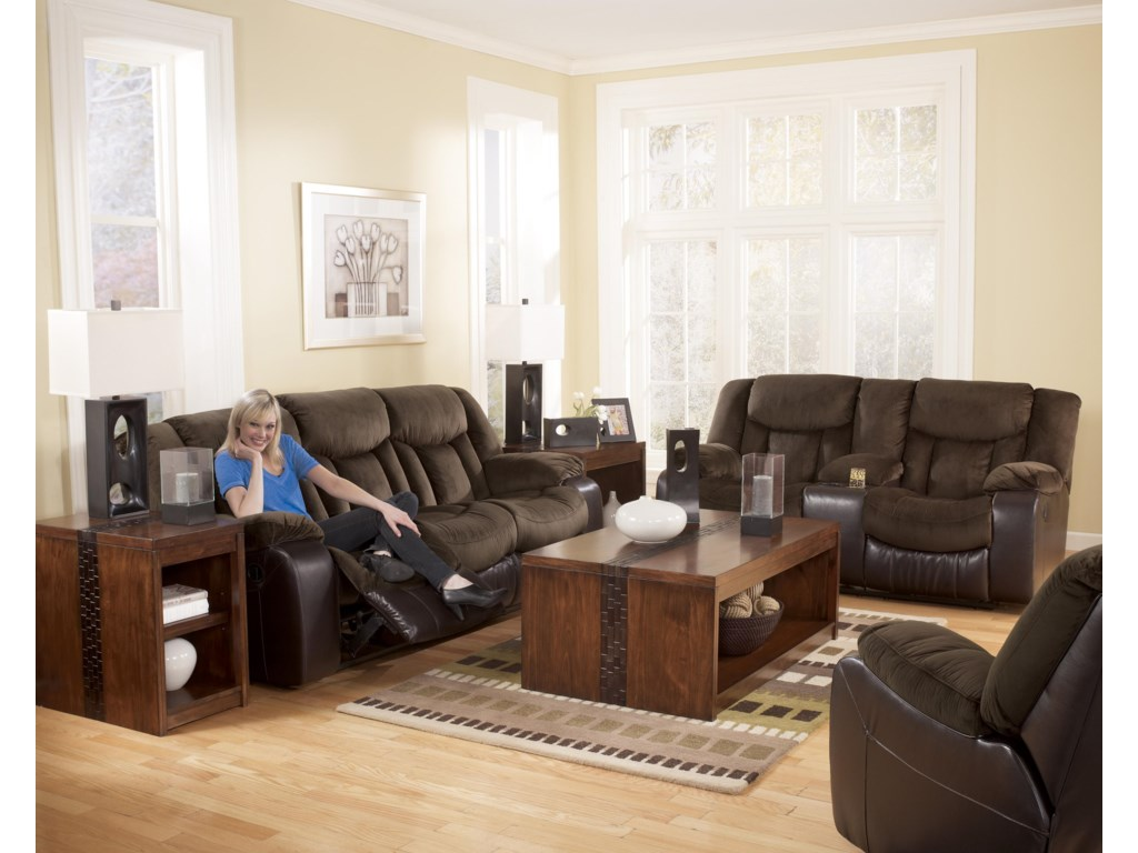 Shown with Reclining Sofa and Rocker Recliner